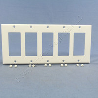 Eagle White Standard Decorator 5-Gang Thermoset Wallplate GFCI GFI Cover 2165W