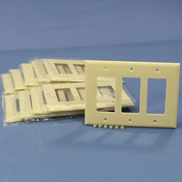 10 Eagle Ivory Decorator Mid-Size 3-Gang GFI GFCI Cover Rocker Switch Thermoset Wallplates 2063V