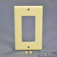 Leviton Almond Standard 1-Gang Decora GFI GFCI Plastic Cover Wallplate 80401-A