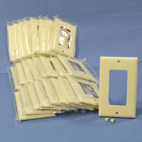 25 Cooper Ivory Standard 1-Gang Decorator GFI GFCI Cover Thermoset Wallplates 2151V