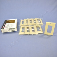 10 Cooper Ivory Standard 1-Gang Decorator GFI GFCI Cover Thermoset Wallplates 2151V
