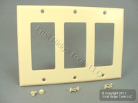Leviton Almond Decora 3-Gang Plastic Wallplate GFCI GFI Thermoset Cover 80411-A