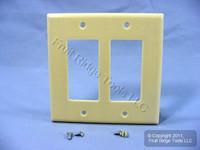 Leviton Midway Ivory 2G Leviton Decora Plastic Wallplate GFCI GFI Cover 80609-I