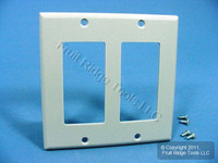 Leviton Gray 2-Gang Decora GFI GFCI Plastic Wallplate Standard Cover 80409-GY