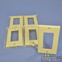 5 Leviton Ivory Decora GFI GFCI Cover Wallplates 80401-I
