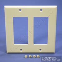 Leviton Almond Decora 2-Gang Unbreakable Wallplate GFCI GFI Nylon Cover 80409-NA