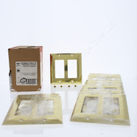 10 Pass & Seymour Polished Solid Brass 2-Gang Decorator Wallplates Rocker Cover SB262-PBCC10