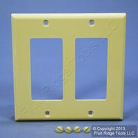 Leviton Ivory Decora 2-Gang Unbreakable Wallplate GFCI GFI Nylon Cover 80409-NI