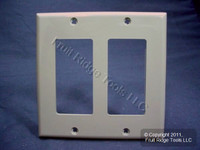 Leviton Gray 2-Gang Unbreakable Decora Wallplate GFCI GFI Nylon Cover 80409-NGY