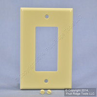 Leviton Ivory Decora LARGE 1-Gang Wallplate GFCI GFI Rocker Switch Cover 80601-I
