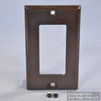Leviton Brown Decora GFI GFCI 1-Gang Standard Size Plastic Wallplate Cover 80401