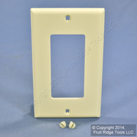 Leviton Almond 1-Gang UNBREAKABLE Decora Wallplate GFCI GFI Nylon Cover 80401-NA
