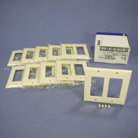 10 Eagle Almond Decorator Standard 2-Gang Thermoset Wallplate GFCI GFI Covers 2152A