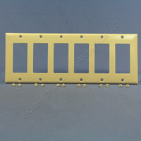 Eagle Ivory Standard Decorator 6-Gang Thermoset Wallplate GFCI GFI Cover 2166V