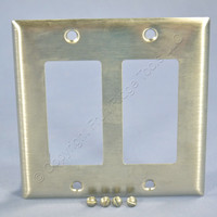 Bryant Standard 2G NON-MAGNETIC Stainless Steel Decorator Wallplate Cover S602D