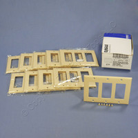 10 Eagle Ivory Standard Decorator 3-Gang Thermoset Wallplate GFCI GFI Covers 2163V