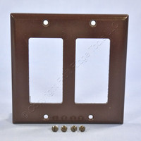 Cooper Brown Decorator Standard 2-Gang Thermoset Wallplate GFCI GFI Cover 2152B