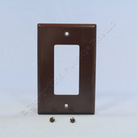 Eagle Brown 1-Gang Decorator Mid-Size Wallplate GFCI Rocker Switch Cover 2051B