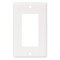 Cooper White Standard 1-Gang Decorator GFI GFCI Cover Thermoset Wallplate 2151W