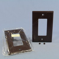 2 Eagle Brown 1-Gang Decorator Mid-Size Wallplate GFCI Rocker Switch Covers 2051B