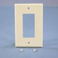 Leviton Light Almond Decora LARGE Wallplate GFCI GFI Rocker Switch Cover 80601-T