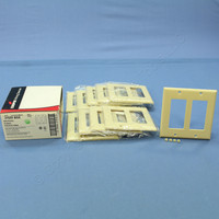 10 Cooper Ivory Decorator Standard 2-Gang Thermoset Wallplate GFCI GFI Covers 2152V