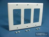 Leviton White 3-Gang Decora Wallplate UNBREAKABLE GFCI GFI 80411-NW