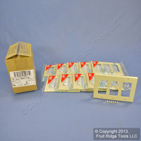 10 Leviton Ivory Decora 3G Flush Unbreakable Wallplate GFCI GFI Covers 80411-NI