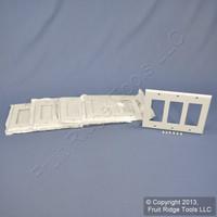 5 Leviton White Decora 3Gang Plastic Wallplate GFCI GFI Thermoset Covers 80411-W