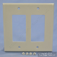 New Leviton Midway Gray 2-Gang Decora Plastic Wallplate GFCI GFI Cover 80609-GY