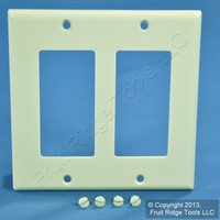 Leviton Almond Decora 2-Gang Plastic Wallplate GFCI GFI Standard Cover 80409-A
