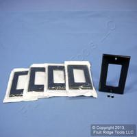 5 Leviton 1-Gang Black Decora GFI GFCI Plastic Thermoset Cover Wallplate 80401-E