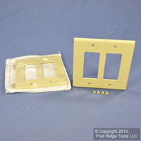 2 Leviton Midway Ivory 2-Gang Leviton Decora Wallplates GFCI GFI Covers 80609-I