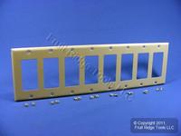 Leviton Ivory 8-Gang Decora Thermoset Wallplate GFCI GFI Plastic Cover 80408-I