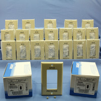 "20 Leviton Ivory Unbreakable Decora ""GFCI PROTECTED"" Wallplates GFI Cover 80401-GFI"
