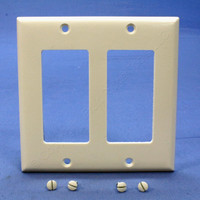 Pass and Seymour Light Almond Standard Size 2-Gang Decorator Thermoset Wallplate Cover SP262-LA