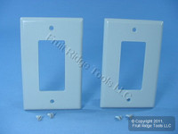 2 Leviton Gray Decora LARGE Wallplates GFCI GFI Rocker Switch Covers 80601-GY