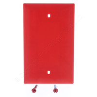 Pass and Seymour Trademaster Red UNBREAKABLE Nylon Blank Cover Box Mount Wallplate TP13-RED