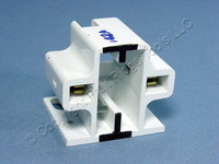 Leviton Compact Fluorescent Lamp Holder CFL Light Socket 13W 2-Pin GX23 GX23-2 Base Horizontal Screw Mount 26720-200