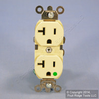 Leviton Ivory LIGHTED HOSPITAL Grade Receptacle Illuminated Duplex Outlet 20A 8300-HLI