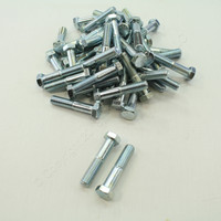 "New 47-Pack Metallics 1/2""-13 & 2-1/2"" Hex Head Bolts Zinc Plated JBHC34"