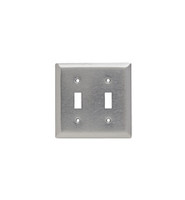 Pass and Seymour Type 403 Magnetic Stainless Steel 2-Gang Toggle Switch Cover Switchplate SL2