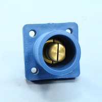 "Leviton Blue Male Cam Receptacles Male 1.50"" Stud Plug 16 Series 400A 600V Bulk 16R23-14B"