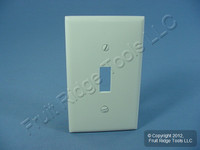 Leviton Light Almond Unbreakable Toggle Switch Cover Wall Plate Switchplate 80701-T