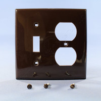 Leviton Brown UNBREAKABLE Switch/Outlet Wallplate Receptacle Cover Switchplate 80705