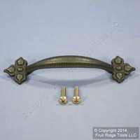 Period Brass Belwith Black Mist Antique 96MM Cabinet Pull