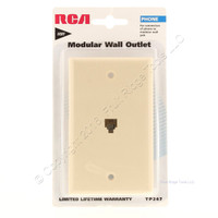 RCA Ivory Telephone Modular Wall Jack