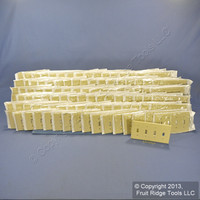 100 Leviton Ivory Standard 4-Gang Toggle Light Switch Cover Plastic Wallplates 86012