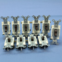 10 Leviton Brown 3-Way COMMERCIAL Grade Toggle Wall Light Switches 20A CSB3-20