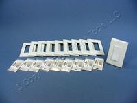10 Leviton DHC White Color Change Conversion Kits for Decora Rocker Switch 6091-W